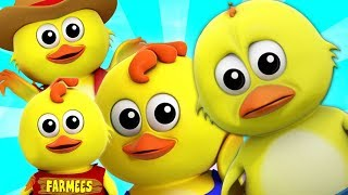 cinque piccoli pulcini | filastrocche | Musica per Bambini | Five Little Chicks | Farmees Italiano