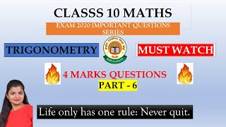 Exam 2020 Important Questions Series | Class 10 Maths  | Helpful Videos