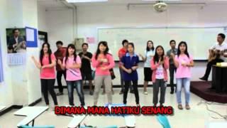 """""""Disini Senang Disana Senang"""" by PSRU students"""