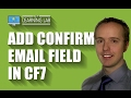 Add Confirm Email Field To Contact Form 7 Forms | Contact Form 7 Tutorials Part 9