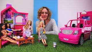 Spiel mit Barbie - Umzug ins Wochenendhaus - Video für Kinder