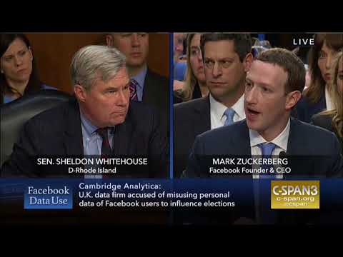 Whitehouse Remarks in Joint Judiciary and Commerce Committees on Facebook and Social Media Privacy