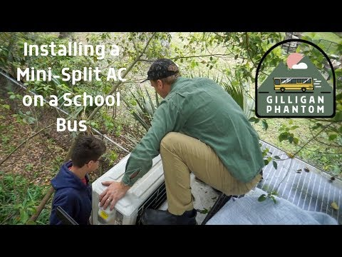 How We Mounted a Mini Split AC (Air Conditioner) on the Back of Our School Bus Tiny House Ep 51