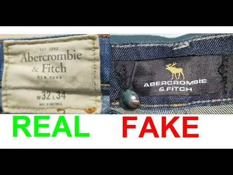 Real Vs. Fake Abercrombie And Fitch Jeans. How To Spot Fake A&F