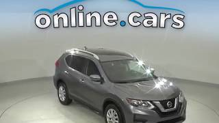 A10689TR Used 2017 Nissan Rogue SV FWD 4D Sport Utility Gray Test Drive, Review, For Sale
