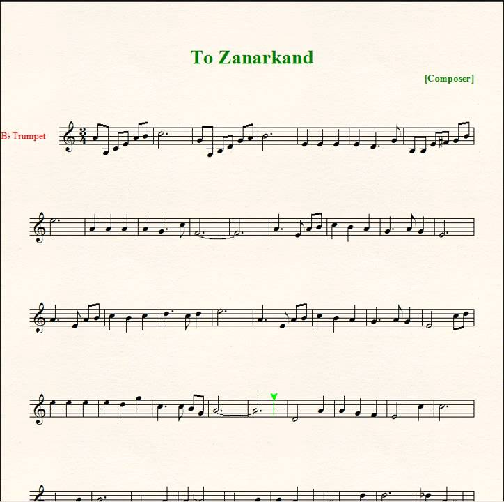 partition piano ffx to zanarkand
