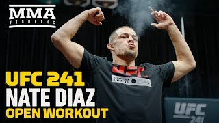 UFC 241: Nate Diaz Open Workout Highlights - MMA Fighting