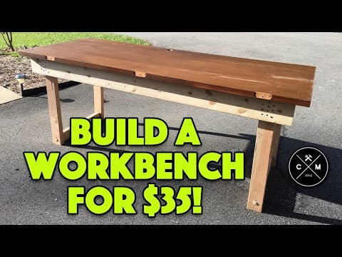 How To Build A Workbench With A Solid Core Door For 35 Crafted Workshop Youtube
