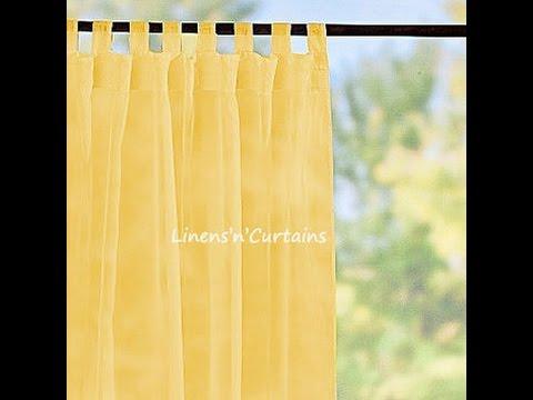 Sheer Yellow Curtains