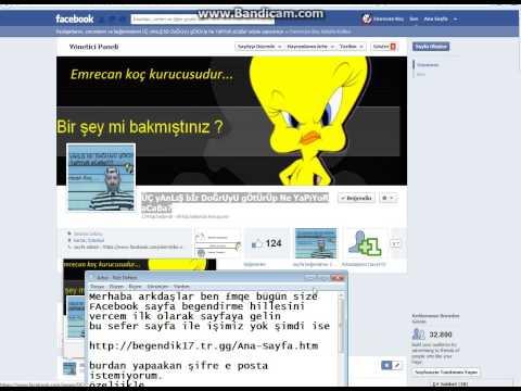 Facebook Sayfa beğendirme hillesi2012