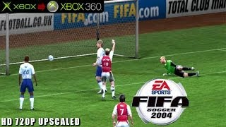 FIFA Soccer 2004 - Gameplay Xbox HD 720P (Xbox to Xbox 360)