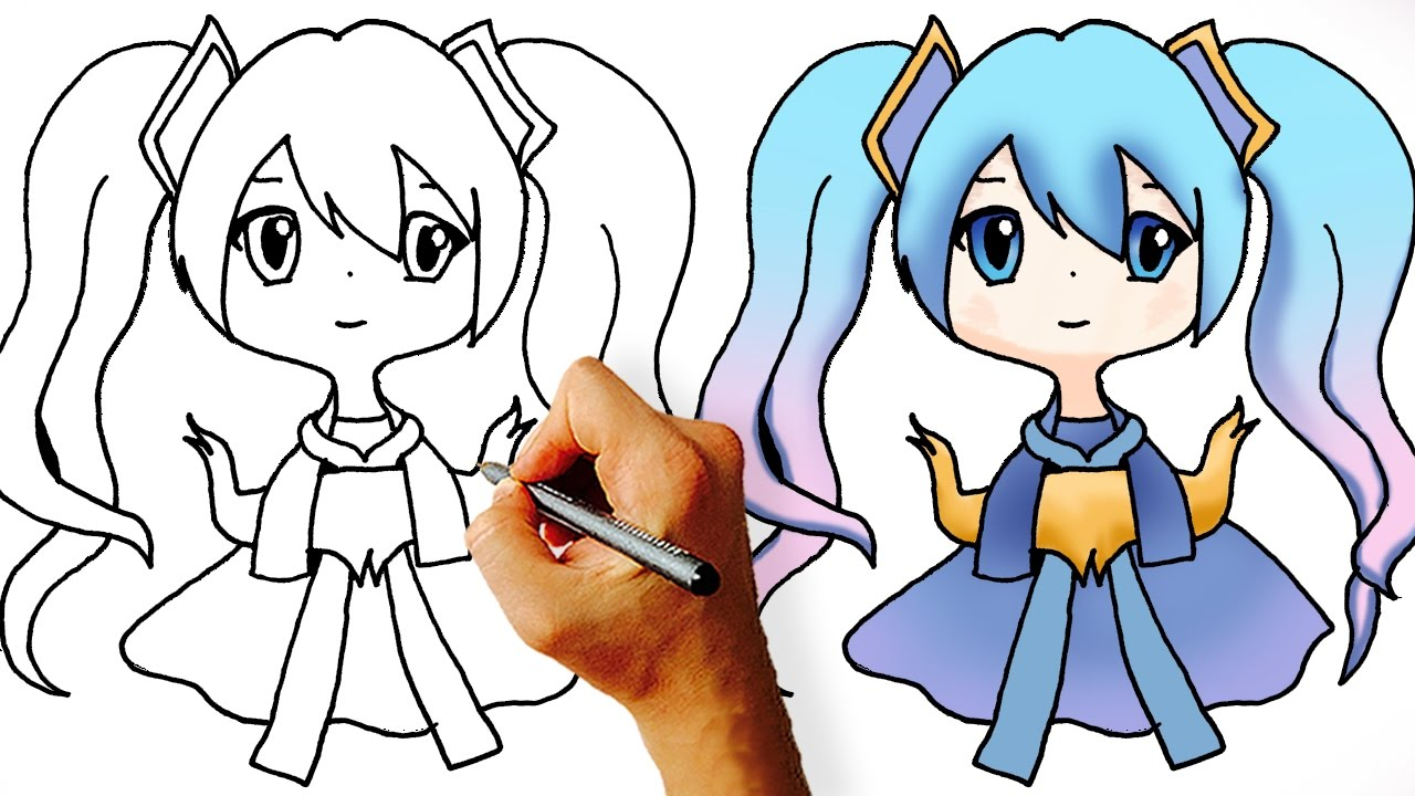 How To Draw Sona Chibi League Of Legends Champions