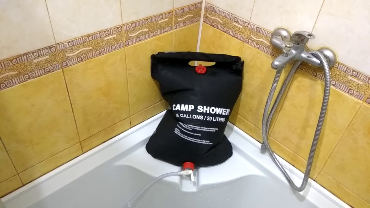 Shower Bag water bag shower bag for outdoor camping hiking heatedsolar
