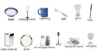 Tableware - Picture Vocabulary Review