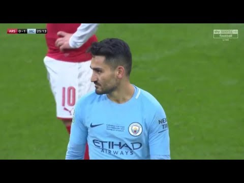 Ilkay Guendogan vs Arsenal (25-02-2018) Home