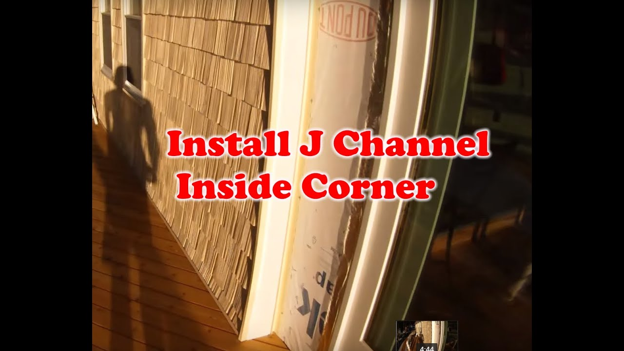 How To Install Vinyl Siding J Channel Inside Corner Part 2