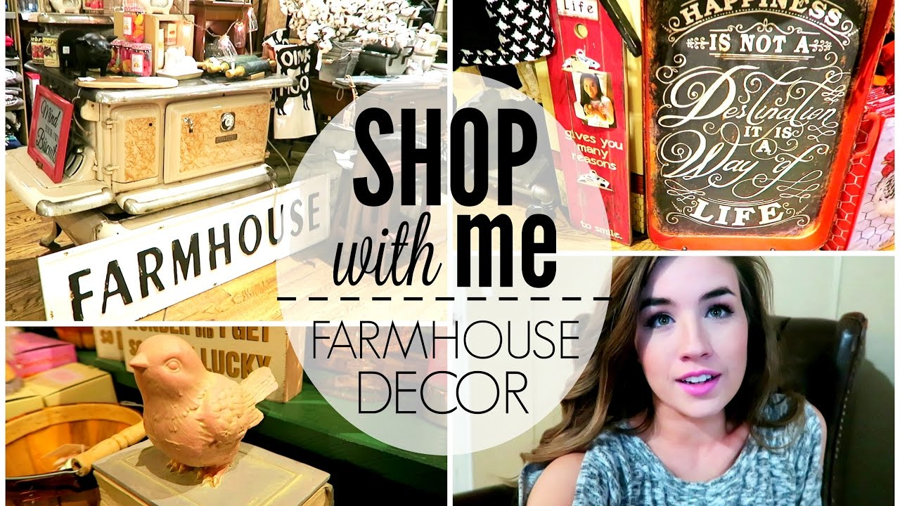 FARMHOUSE HOME DECOR SHOP WITH ME