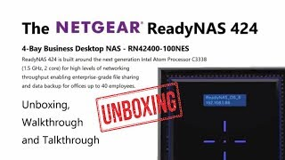 NetGear ReadyNAS 424 RN42400-100NES 4-Bay Business Desktop NAS,  RAID-0/1/5/6/X-RAID2, Diskless