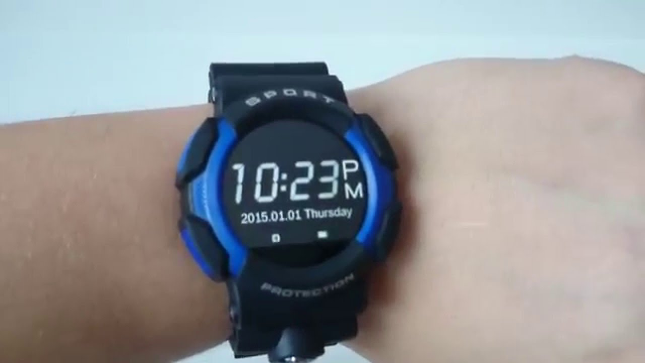 smart rugged charge free watch a rug battery military style with life smartwatch waterproof month