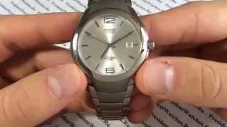 Титановые часы Casio LIN-169-7A - видео обзор наручных часов от PresidentWatches.Ru
