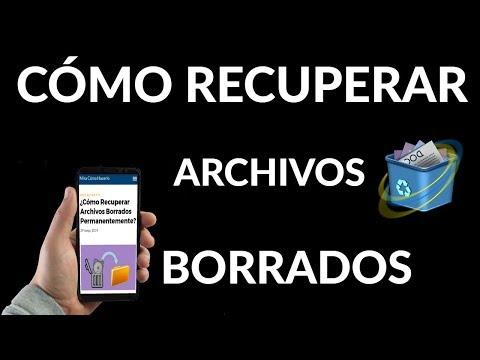 ¿Cómo Recuperar Archivos Borrados Permanentemente?