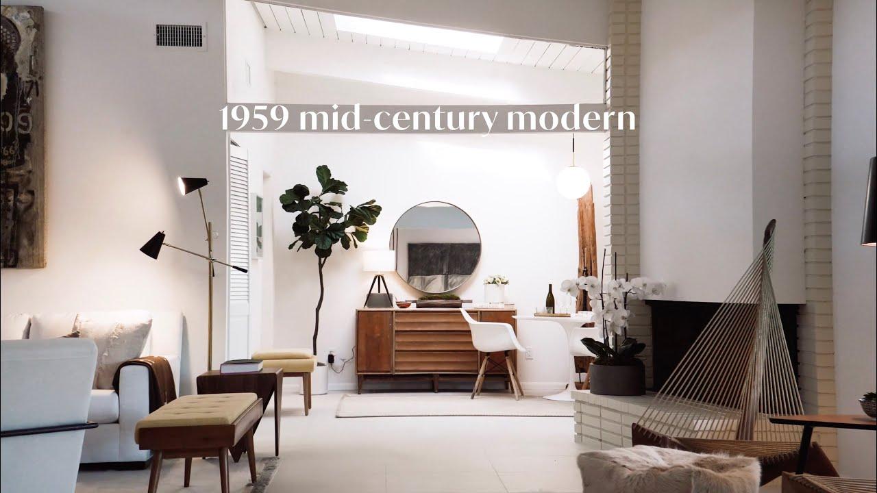 1959 Minimalist Mid Century Modern Home Decor Living Room Kitchen Bathroom Youtube