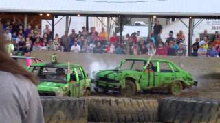 Fulton County Fair Compact Demolition Derby Heat 1 8/14/14