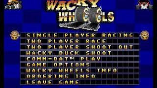 The title music from Wacky Wheels on an emulated (dosbox) soundblas...