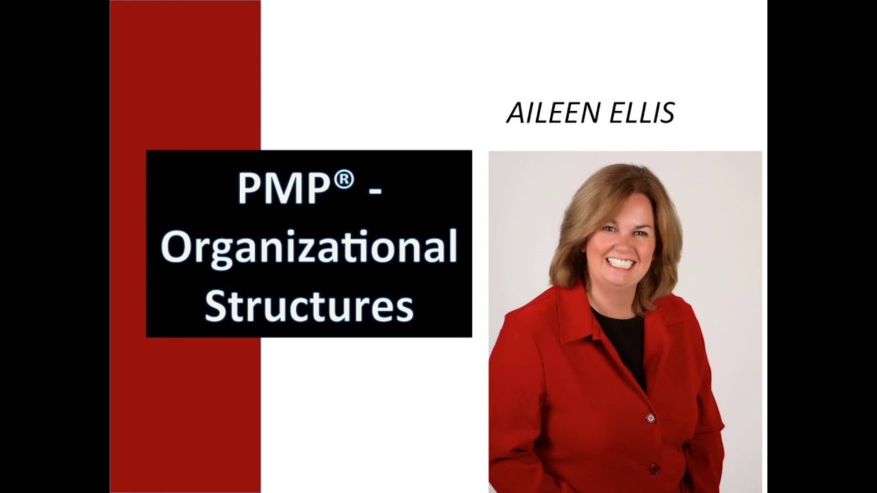 PMP Exam Prep- Organizational Structures with Aileen. Aileen explains the organizational structures on the PMP exam including functional, weak matrix, balanced matrix, strong matrix, projectized and composite. A.... Youtube video for project managers.