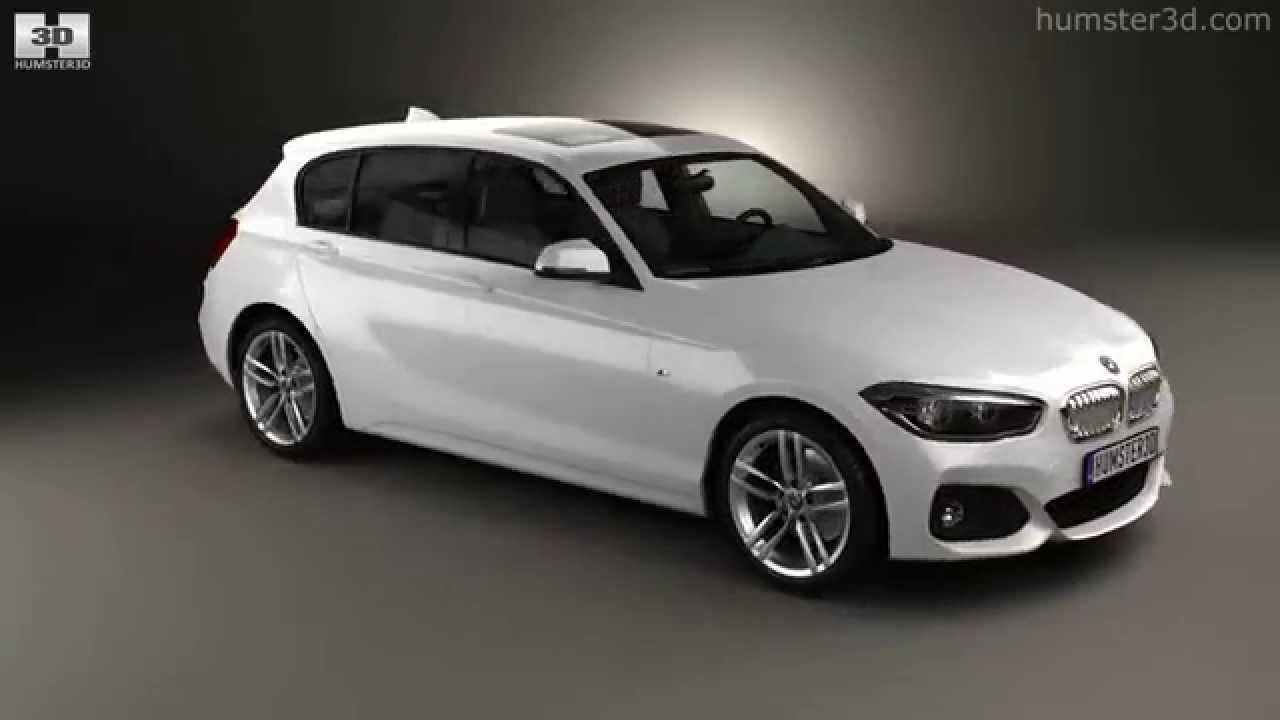 bmw 1 series f20 5 door m sport package 2015 by 3d model. Black Bedroom Furniture Sets. Home Design Ideas