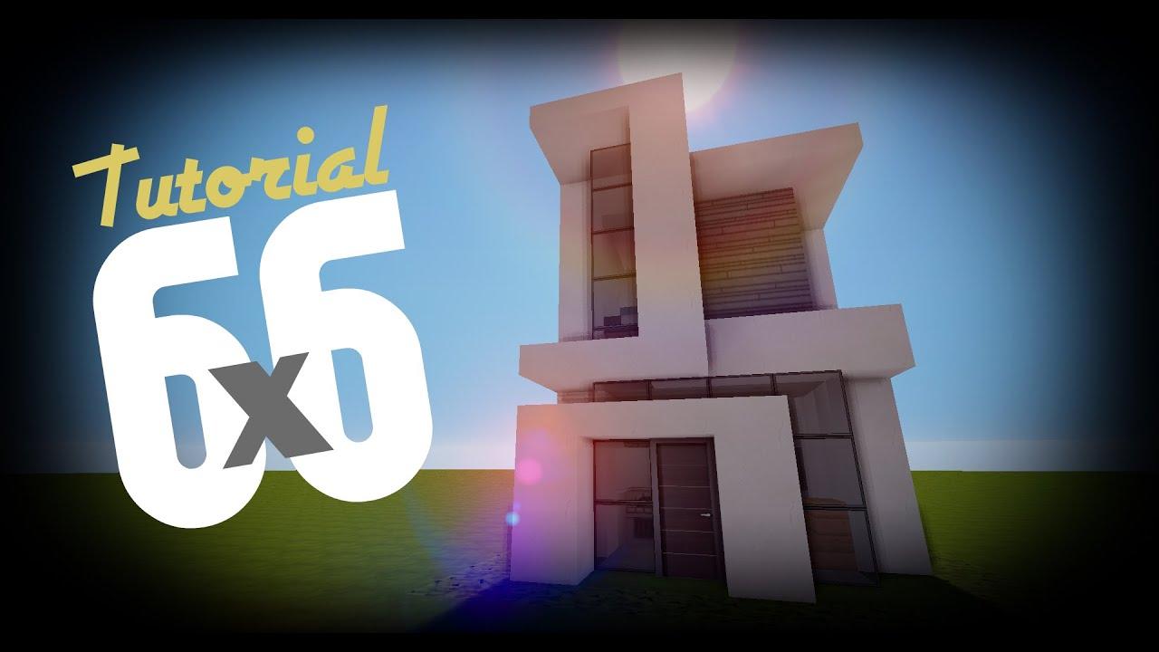 Minecraft como hacer una casa moderna 6x6 17 youtube for Casa moderna 6x6