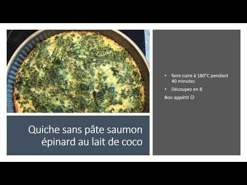 recette-de-quiche-sans-pâte-saumon-épinard-lait-de-coco