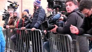#Campidoglio, cronisti transennati, #Grillo inavvicinabile, va via senza rispondere