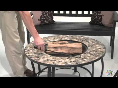 River Rock Inch Round Fire Pit