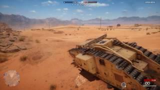 Battlefield 1 Mark V Tank test
