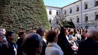 Inauguration de la plaque en hommage aux enfants déportés au lycée Guez-de-Balzac à Angoulême