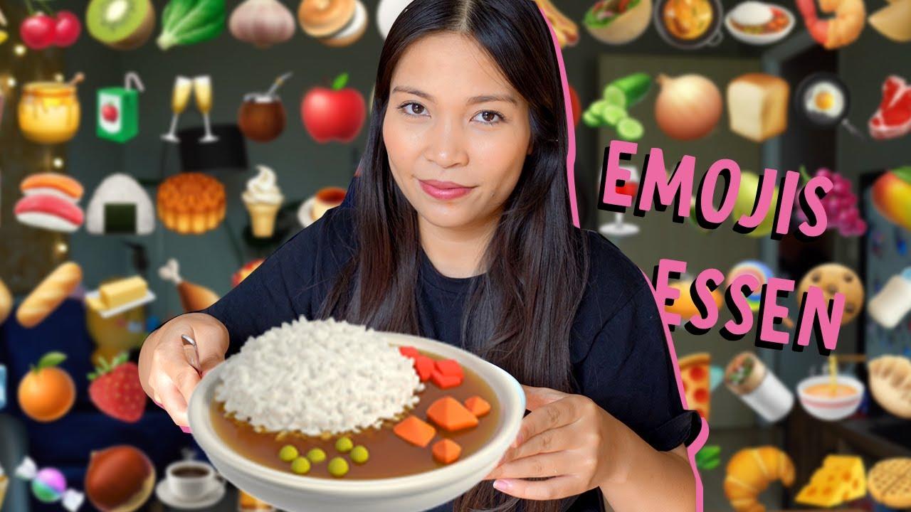 ich esse ALLE Food Emojis (🥯🍱🍕🍖...)
