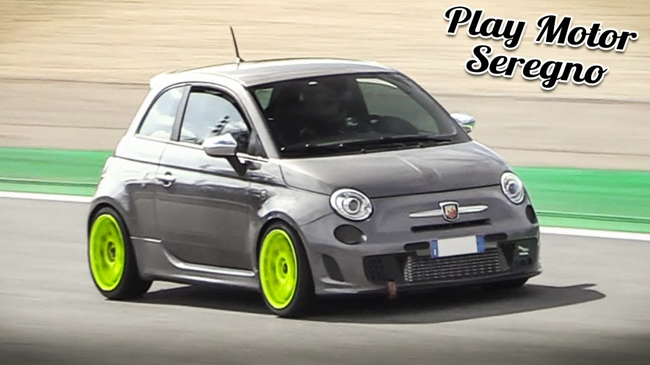300 Hp Abarth 595 Competizione At Monza Circuit Onboard Fly Bys Turbo Sounds