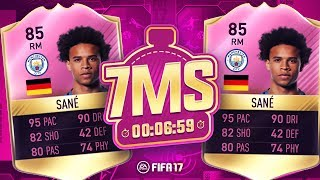 PINK FUTTIES LEROY SANE 7 MINUTE SQUAD BUILDER!! - FIFA 17 ULTIMATE TEAM