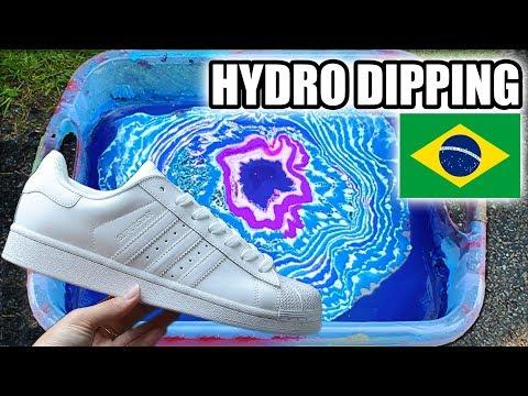 HYDRO DIPPING BRASIL | Customizando Adidas Superstar Universo - The vict