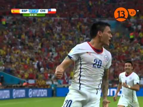 Chile 2 - España 0  Claudio Palma   Mundial Brasil 2014 //Lainer//