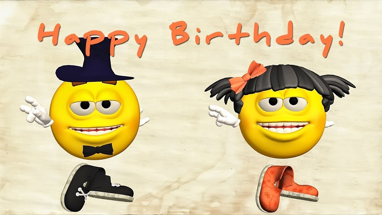 Funny Happy Birthday Song Emoji Sing To You