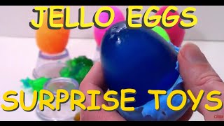 Play-doh and Jello Surprise Eggs!