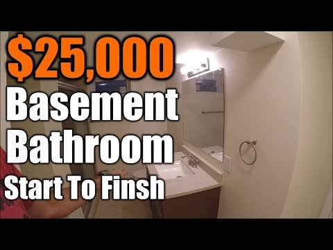 DIY Basement Bathroom On A Budget | How To Put A Bathroom In Your  Unfinished Basement | The Handyman   YouTube