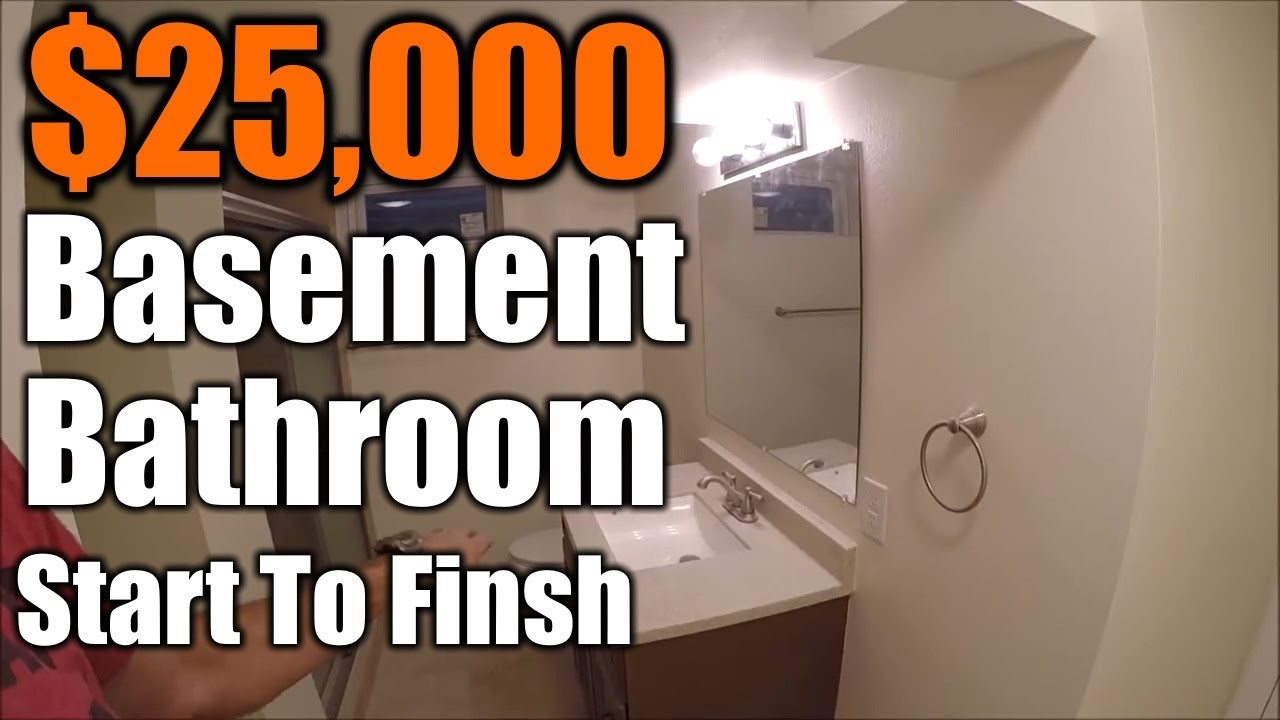 How To Build A Bathroom In Your Basement Start Finish The Wiring Diagram Before Installing Vanity Light