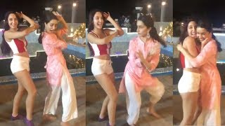 Shraddha Kapoor39;s FUNNY Dance With Dilbar Girl Norah Fatehi On Sets of ABCD 3