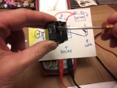 100 V Motor Wiring Diagram Relays How To Wire And How They Work Tutorial Youtube
