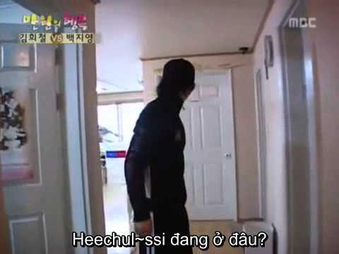 kibum gọi heechul thức dậy .mp4
