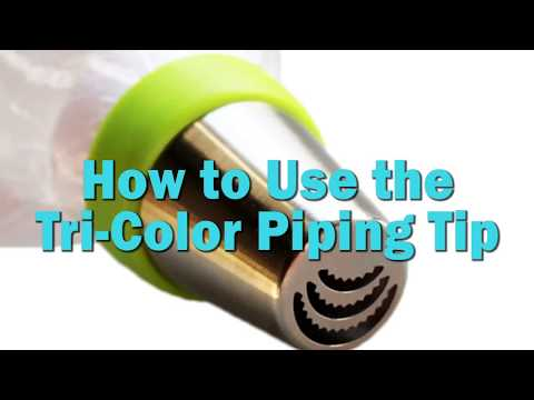 How to Use the Tri Color Piping Tip Coupler for 3 colors