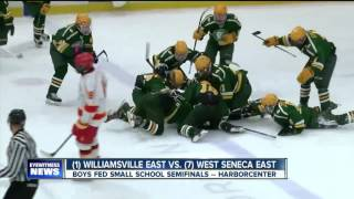 West Seneca East pulls the upset in Double OT (2/22/17)